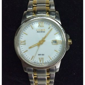Citizen Watch Dual Tone White Face Stainless Steel